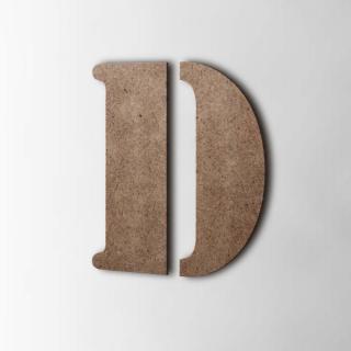 Houten Letter D Stencil MDF Bruin