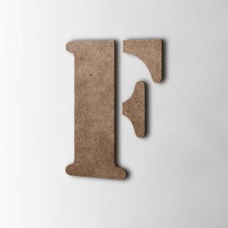 Houten Letter F Stencil MDF Bruin
