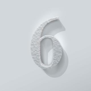 Piepschuim Cijfer 6 Bodoni