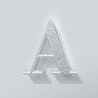Piepschuim Letter A Bodoni