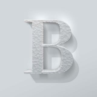Piepschuim Letter B Bodoni