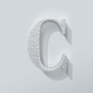 Piepschuim Letter C Bodoni