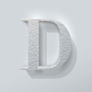 Piepschuim Letter D Bodoni