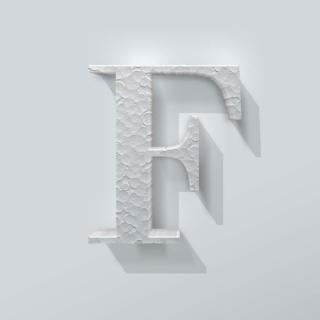 Piepschuim Letter F Bodoni