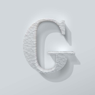 Piepschuim Letter G Bodoni