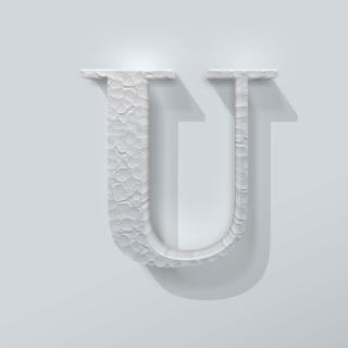 Piepschuim Letter U Bodoni