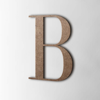 Houten Letter B Bodoni MDF Bruin