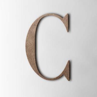 Houten Letter C Bodoni MDF Bruin