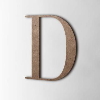 Houten Letter D Bodoni MDF Bruin