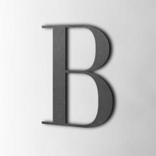 Houten Letter B Bodoni MDF Zwart