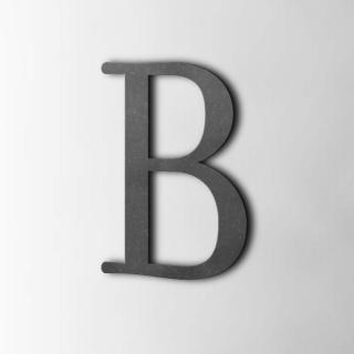 Houten Letter B Filisofia MDF Zwart