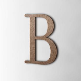 Houten Letter B Filisofia MDF Bruin