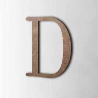 Houten Letter D Filisofia MDF Bruin