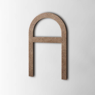 Houten Letter A Thesis MDF Bruin