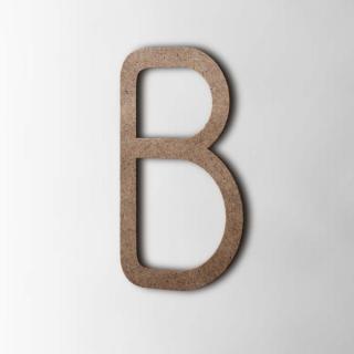 Houten Letter B Thesis MDF Bruin