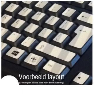 Blauw Zwart toetsenbordstickers