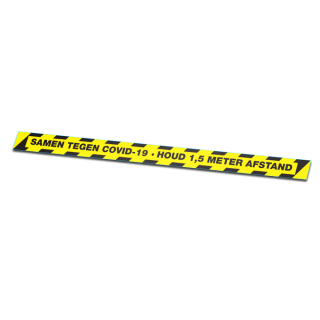 Afstand Houden Vloerlijn Corona Sticker Met Tekst
