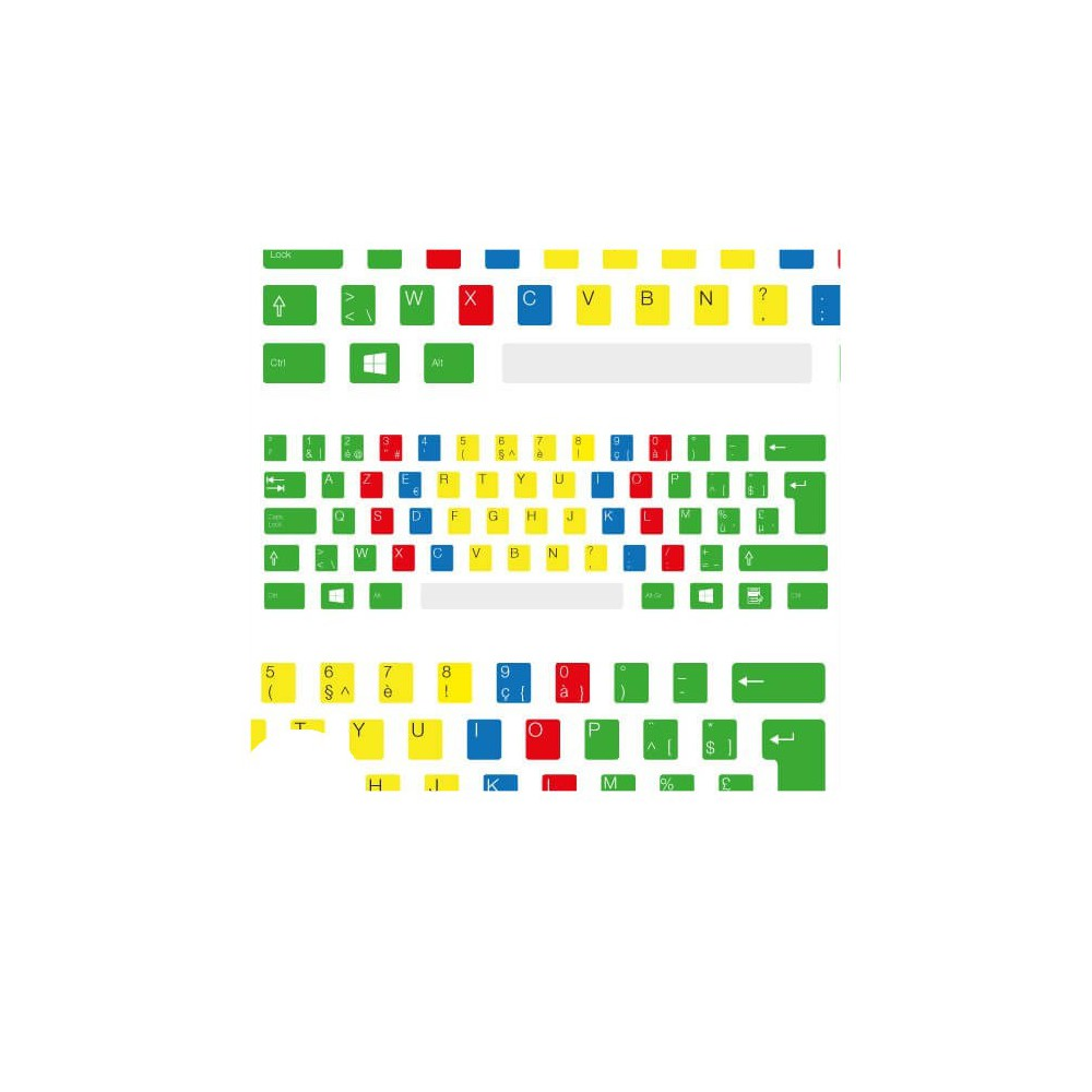 AZERTY (België) Toetsenbord letters - Blind typen (met