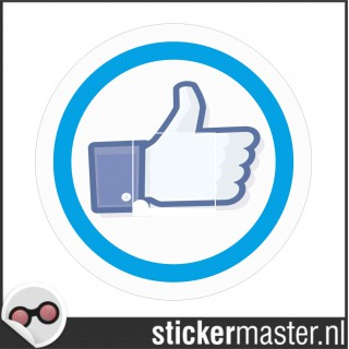 Facebook like ronde Stickers set
