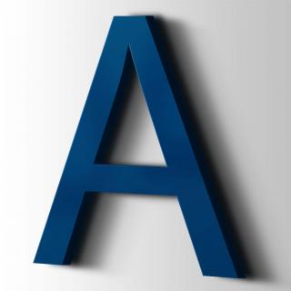 Kunststof Letter A Arial Acrylaat 5002 Ultramarine Blue