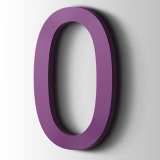 Kunststof Cijfer 0 Arial Acrylaat 4008 Signal Violet