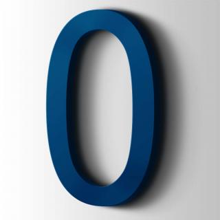Kunststof Cijfer 0 Arial Acrylaat 5002 Ultramarine Blue