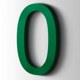 Kunststof Cijfer 0 Arial Acrylaat 6029 Mint Green