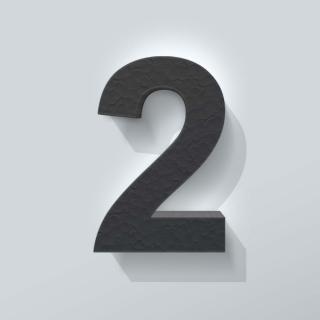 Zwart Piepschuim Cijfer 2 Arial