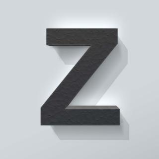 Zwart Piepschuim Letter Z Arial