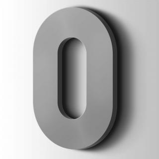 Kunststof Cijfer 0 Big John Acrylaat 7040 Window Grey
