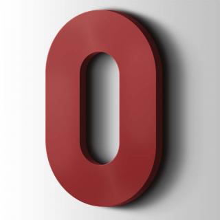 Kunststof Cijfer 0 Big John Acrylaat 3001 Signal Red