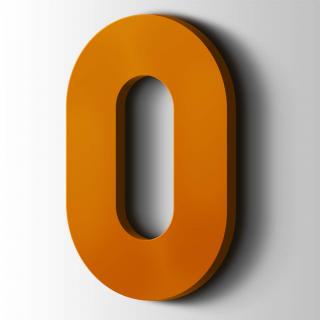 Kunststof Cijfer 0 Big John Acrylaat 2004 Pure Orange