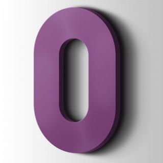 Kunststof Cijfer 0 Big John Acrylaat 4008 Signal Violet