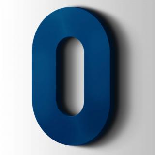 Kunststof Cijfer 0 Big John Acrylaat 5002 Ultramarine Blue