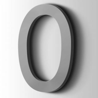 Kunststof Cijfer 0 Comic Sans Acrylaat 7040 Window Grey