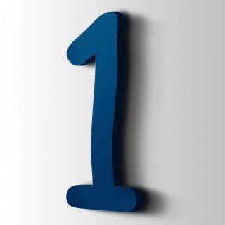 Kunststof Cijfer 1 Comic Sans Acrylaat 5002 Ultramarine Blue