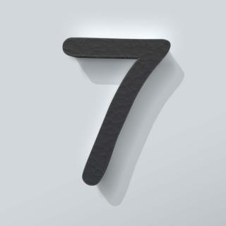 Zwart Piepschuim Cijfer 7 Comic Sans
