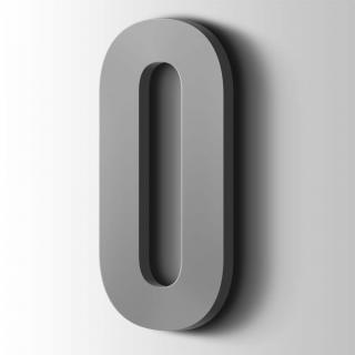 Kunststof Cijfer 0 Bebas Neue Acrylaat 7040 Window Grey