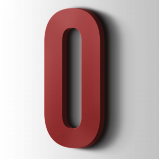 Kunststof Cijfer 0 Bebas Neue Acrylaat 3001 Signal Red
