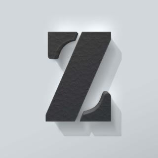 Zwart Piepschuim Letter Z Stencil