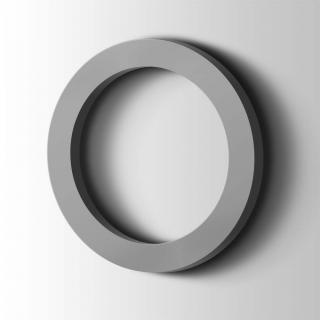 Kunststof Cijfer 0 Filisofia Acrylaat 7040 Window Grey