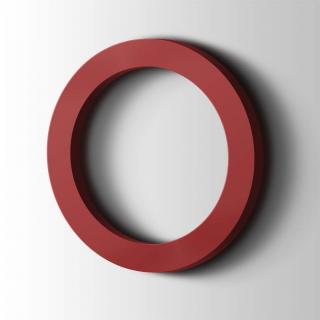 Kunststof Cijfer 0 Filisofia Acrylaat 3001 Signal Red