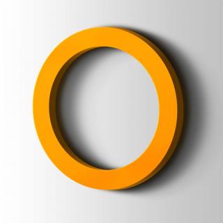 Kunststof Cijfer 0 Filisofia Acrylaat 1003 Signal Yellow