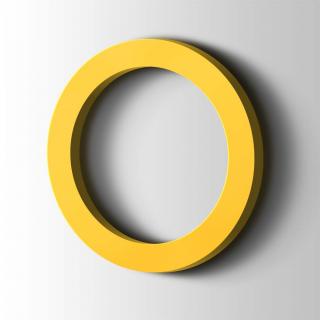 Kunststof Cijfer 0 Filisofia Acrylaat 1018 Zinc Yellow