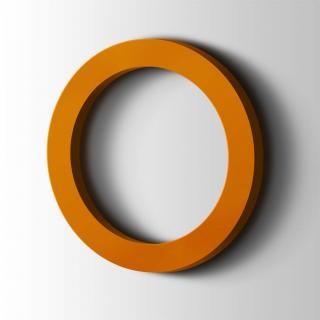 Kunststof Cijfer 0 Filisofia Acrylaat 2004 Pure Orange