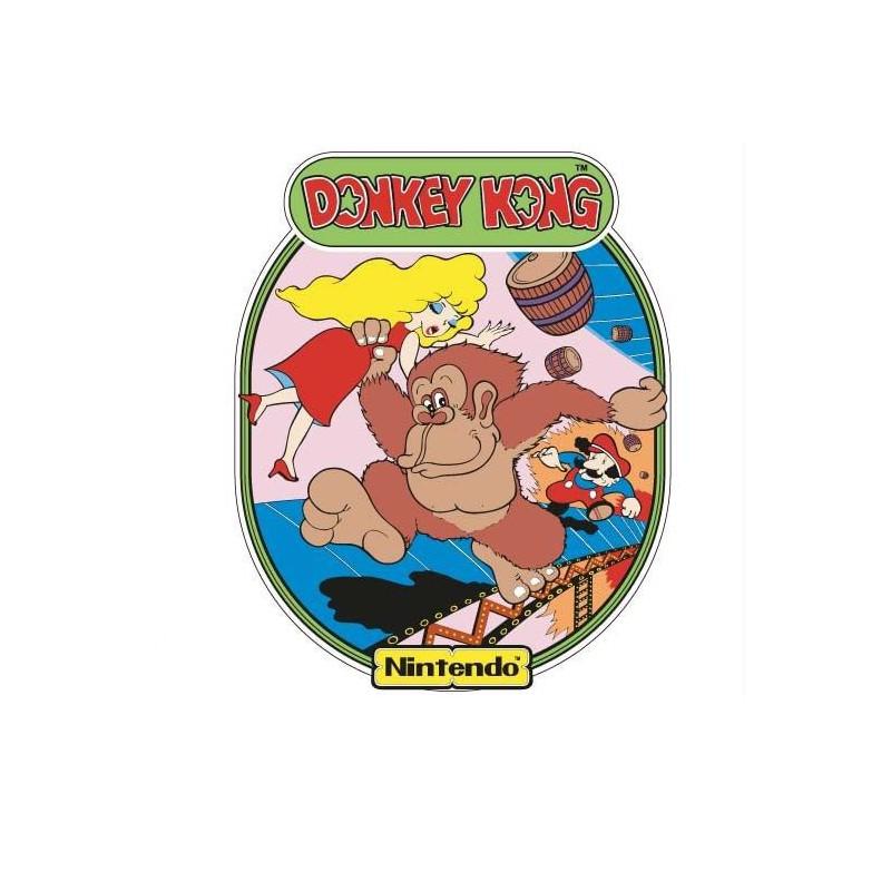 Donkey Kong side art arcade stickers