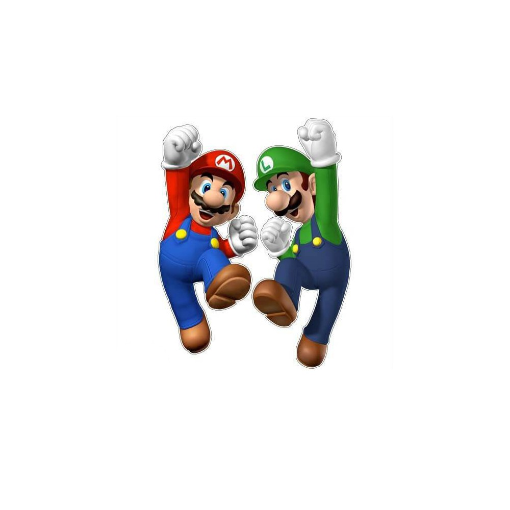 Mario en Luigi side art arcade stickers