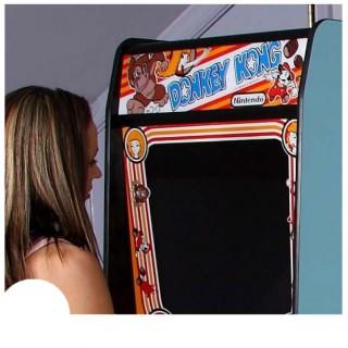 Donkey Kong marquee arcade sticker