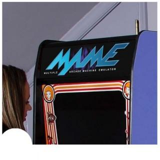 MAME marquee arcade sticker