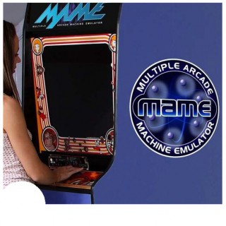 MAME Blauw side art arcade stickers